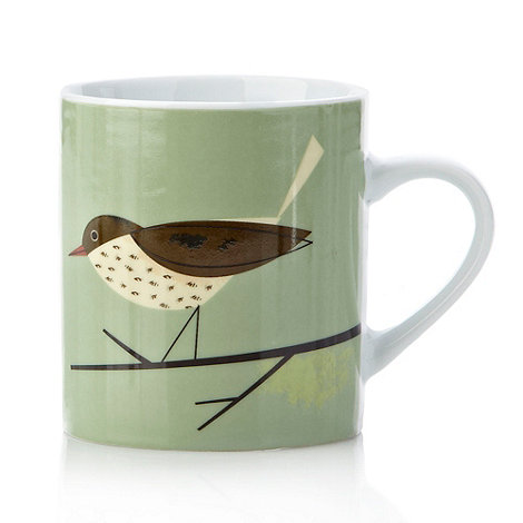 Magpie - Porcelain thrush mug