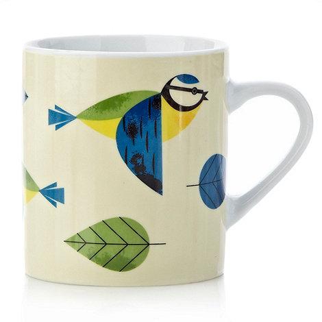 Magpie - Porcelain blue tit mug