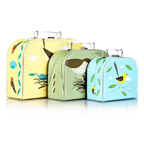 Magpie - Set of three bird suitcases