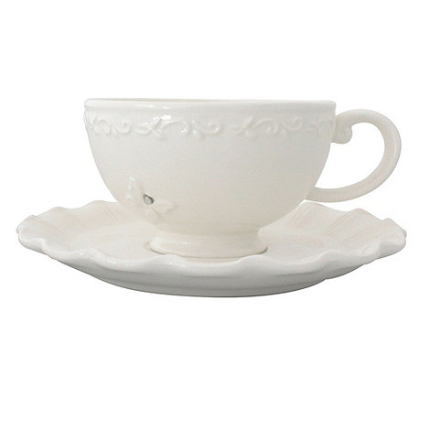 Bombay Duck - Ceramic +All of a Flutter+ ceramic tea cup and saucer