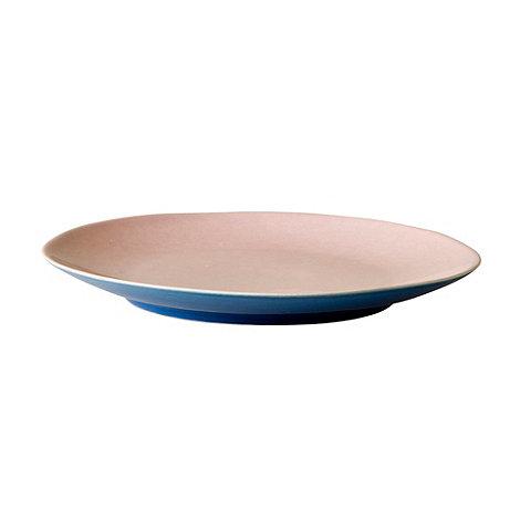 Rice - Stoneware bright blue two tone dessert plate
