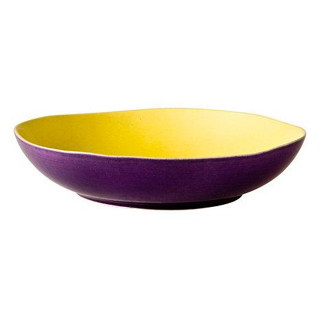 Rice - Stoneware yellow two tone soup bowl