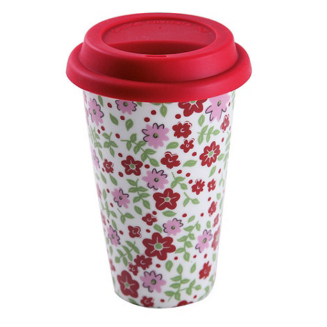 Creative Tops - Red ditsy floral travel mug