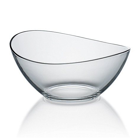 Vidivi Glass made in italy - Wavy edged serving bowl