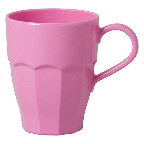 Rice - Melamine pink curved mug
