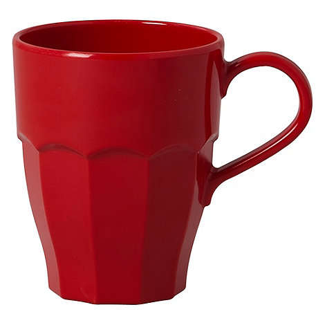 Rice - Melamine red curved mug