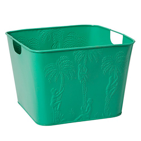 Rice - Steel green square basket