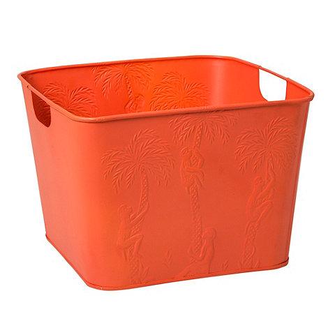 Rice - Steel orange square basket