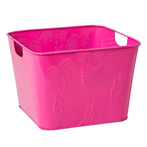 Rice - Steel pink square basket