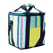 Blue striped cool bag
