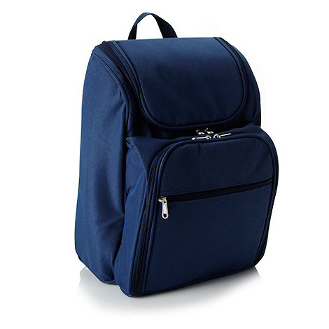Debenhams - Navy picnic backpack