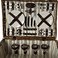 Designer brown wicker picnic hamper