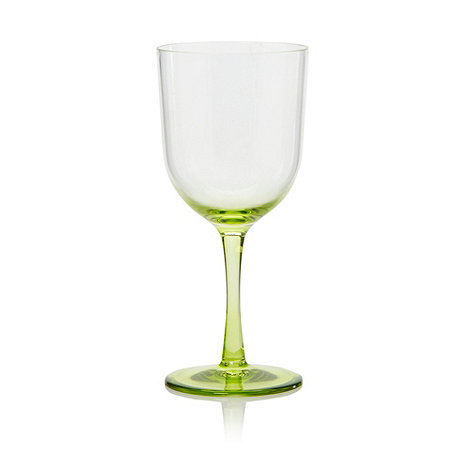 Butterfly Home by Matthew Williamson - Plastic lime green wine glass
