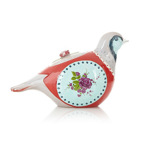 At home with Ashley Thomas - Patterned partridge cookie jar