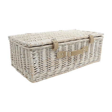 Debenhams - White wicker four person picnic basket