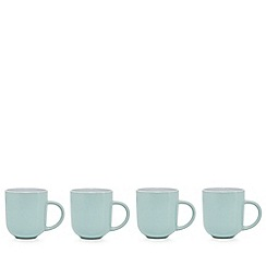 Home Collection Basics - Pack of 4 turquoise two tone mugs