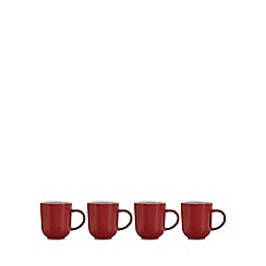 Home Collection Basics - Set of four red two tone mugs