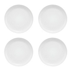 Home Collection Basics - Set of four red two tone dinner plates