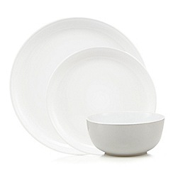 Home Collection Basics - 12 piece grey stoneware dinner set