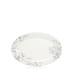 Home Collection - 'Heritage' floral print oval platter