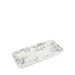Home Collection - Pale blue floral print serving plate