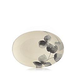 RJR.John Rocha - Grey floral print serving platter