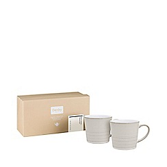 Denby - Pack of 2 glazed 'Natural Canvas' textured effect mugs