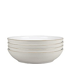 Denby - Set of 4 'Natural Canvas' pasta bowls