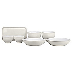 Denby - 7 piece 'Natural Canvas' take-away dinnerware set