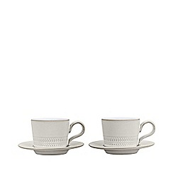 Denby - Set of 2 'Natural Canvas' espresso cups and saucers