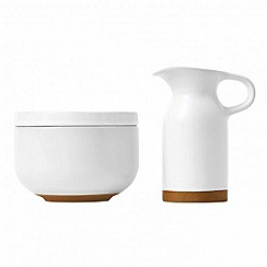 Barber and Osgerby by Royal Doulton - 'Olio' white sugar bowl and cream jug