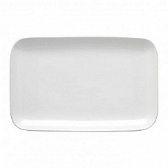 Barber and Osgerby by Royal Doulton - 'Olio' white serving platter 28cm
