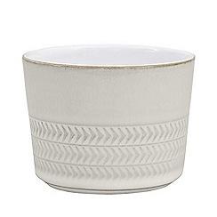 Denby - 'Natural Canvas' textured sugar bowl