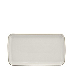 Denby - Glazed 'Natural Canvas' small rectangular platter