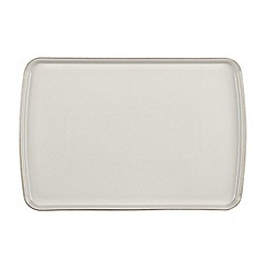 Denby - Glazed 'Natural Canvas' large rectangular platter