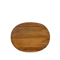 RJR.John Rocha - Brown mango wood serving platter
