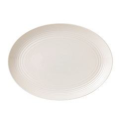 Gordon Ramsay By Royal Doulton - White 'Maze' oval dish