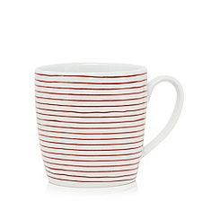 Ben de Lisi Home - White 'Madison' striped print mug