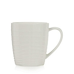 RJR.John Rocha - Off white 'Wave' textured mug