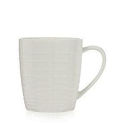 RJR.John Rocha - Off white 'Wave' textured mug