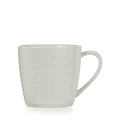 RJR.John Rocha - Off white 'Wave' textured tea cup
