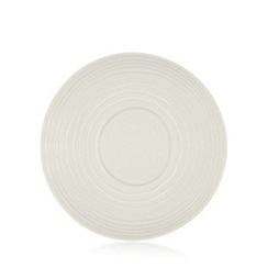 RJR.John Rocha - Off white 'Wave' textured tea saucer