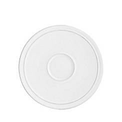 J by Jasper Conran - White 'Aldborough' tea saucer