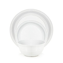 Home Collection - White circles 12 piece dinnerware set