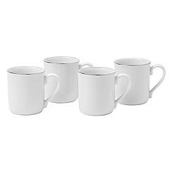Royal Doulton - 'Platinum' trim 4-mug set