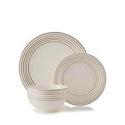 Home Collection - Grey Stripe 12 piece Dinner Set