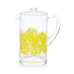 At home with Ashley Thomas - Yellow lemon print jug