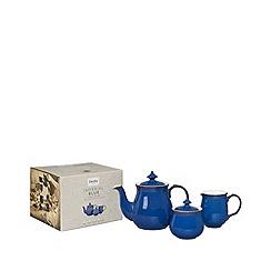 Denby - Glazed 'Imperial Blue' 3 piece tea set