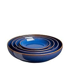 Denby - Imperial blue 4 piece nesting bowl set
