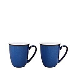 Denby - Pack of 2 'Imperial Blue' mugs